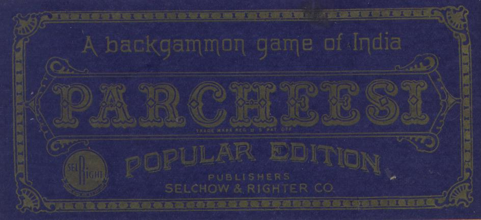 A Backgammon game of India {Parcheesi}