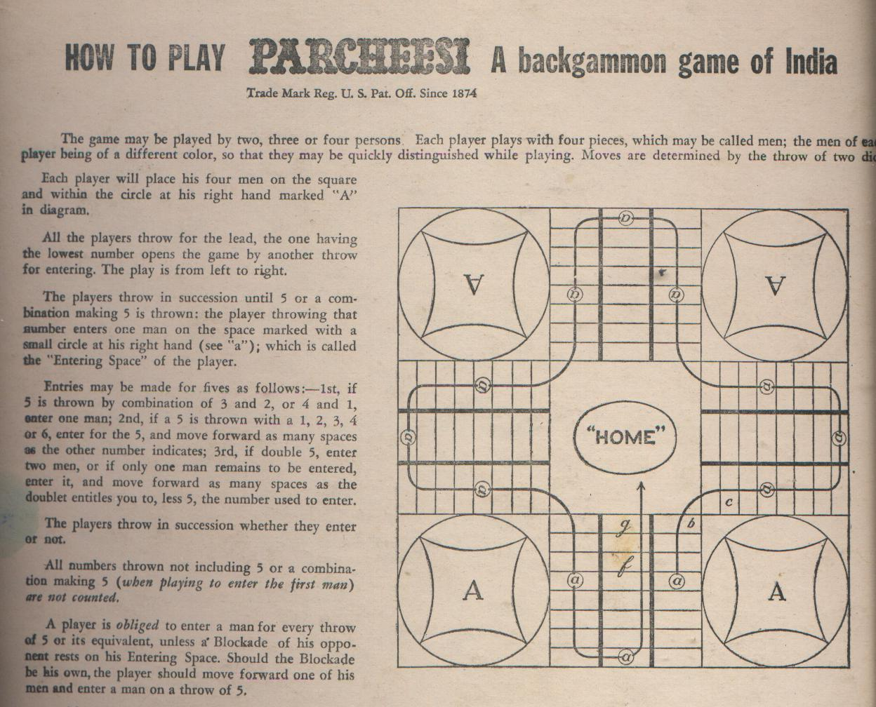 graphic relating to Printable Backgammon Rules referred to as A Backgammon video game of India Parcheesi