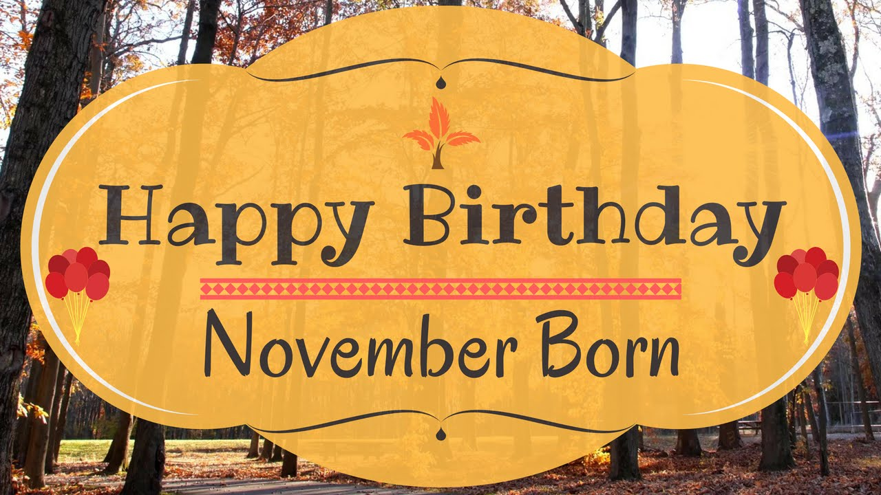 It is a graphic of Satisfactory November Birthday Clipart